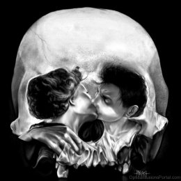 Kissing-Skull-Ambiguous-Optical-Illusion